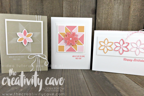 Check out the video tutorial for these gorgeous cards using Stampin Up's Christmas Quilt Bundle from the upcoming Holiday Catalog complete with a video tutorial on my blog at www.thecreativitycave.com #stampinup #thecreativitycave #christmasquilt