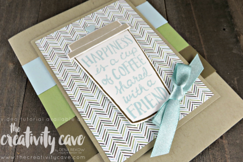 Check out this and several more cards featured in my Facebook Live video on my blog filled with tips and tricks at www.thecreativitycave.com #stampinup #thecreativitycave #cardmaking #papercrafts #coffeecafe #onlineclass