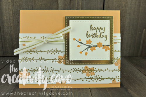 Check out this and several more cards featured in my Facebook Live video on my blog filled with tips and tricks at www.thecreativitycave.com #stampinup #thecreativitycave #cardmaking #papercrafts #colorfulseasons #stitchedshapeframelits