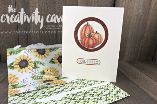 Beautiful card I received in the mail from a customer, Elizabeth G featuring the Painted Autumn printed Paper.