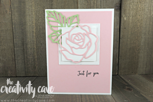 Gorgeous Card I received in the mail from a customer, Karen T--and the basis for a card I created using a different color pallet and stamps--check out my version on my blog: www.thecreativitycave.com #staampinup #thecreativitycave #stitchedshapeframelits