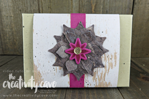 Check out the awesome video tutorial for this fun card using Stampin Up's Eastern Beauty Stamp set and Oh My Stars Embossing Folder on my blog at www.thecreativitycave.com #stampinup #thecreativitycave #SIPChallenge #handmadegreetingcards #thankyou #videotutorial
