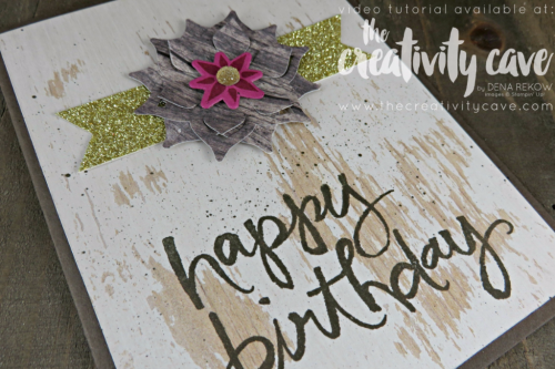 Fun card I created using Stampin Up's Wood Textures DSP  and Eastern Beauty Bundle and Watercolor Words Stamp Set on my blog with Video tutorial at www.thecreativitycave.com #stampinup #thecreativitycave #woodtextures #Easternbeauty #easternpalace #watercolorwords #handmadegreetingcards