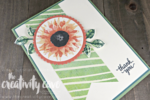 Check out my video tutorial for this quick and easy card (including some great tips and tricks) with Stampin Up's Painted Harvest Stamp set and Painted Autumn DSP (printed Paper) on my blog at www.thecreativitycave.com #stampinup #thecreativitycave #paintedharvest #paintedautumndsp #printedpaper #scrapbookingpaper #handmadegreetingcards #easternbeautystampset #videotutorial