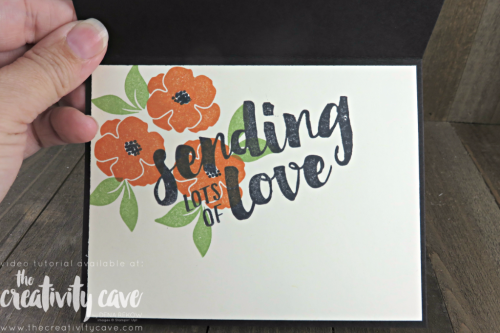 Check out my video tutorial for this quick and easy card (including some great tips and tricks) with Stampin Up's Lots of Love Stamp set and Whole Lot of Lovely DSP (printed Paper) on my blog at www.thecreativitycave.com #stampinup #thecreativitycave  #wholelotoflovelydsp #printedpaper #scrapbookingpaper #handmadegreetingcards #lotsoflovestampset #videotutorial