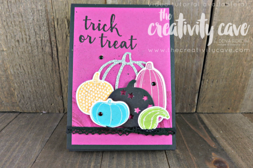 Check out this ADORABLE treat tube Holder Using Stampin Up's Pick A Pumpkin stamp set and Marbled Background.  Video tutorial available on my blog at www.thecreativitycave.com
