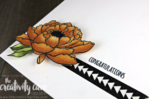 Fantastic Step by Step tutorial for using Stampin Up's new Alcohol Based Markers: Stampin Blends and You've Got This Stamp set on my blog: www.thecreativitycave.com #stampinup #thecreativitycave #stampinblends #copicmarkers #alcoholmarkers #you'vegotthis #handmadegreetingcards #cardmaking #paper #papercrafting #washitape #congratulations #tabsforeverything