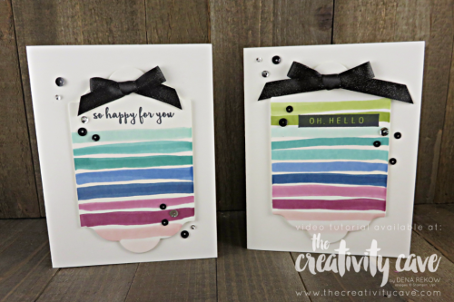 Quick and easy card using Stampin Blends and the Color Me Happy Stamp Set from Stampin Up on my FB Live: www.thecreativitycave.com #stampinup #facebooklive #stampinblends #colormehappy #handmadegreetingcards #lotsoflabelsframelits #bigshot #handmade