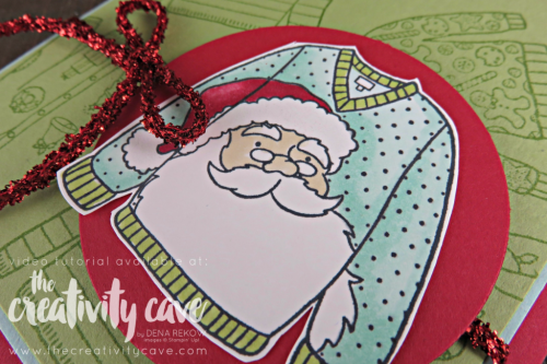 Check out my video for how to make an adorable Christmas Card using Stampin Up's Christmas Sweater Stamp set and Stampin Blends on my blog at www.thecreativitycave.com #stampinup #thecreativitycave #Christmassweaters #Stampinblends #alcoholmarkers #christmascards #handmadegreetingcards