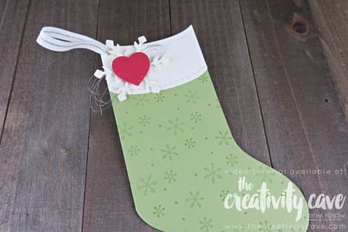 The Tags and Trimmings Bundle makes the most adorable stockings that can be Gift Card Holders, Tags, and even Christmas Ornaments!  Check out more on my blog with video tutorial, www.thecreativitycave.com #stampinup #thecreativitycave #christmas #gifttags #giftcardholders #handmade #cardmaking #papercrafting #diy #rubberstamping