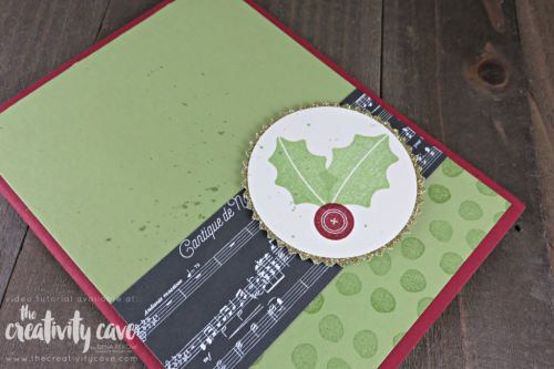 Check out this adorable card and awesome video with tips and tricks for making this quick and easy Christmas Card perfect for Procraftinators :) #stampinup #thecreativitycave #christmas #tagsandtrimmings #handmade