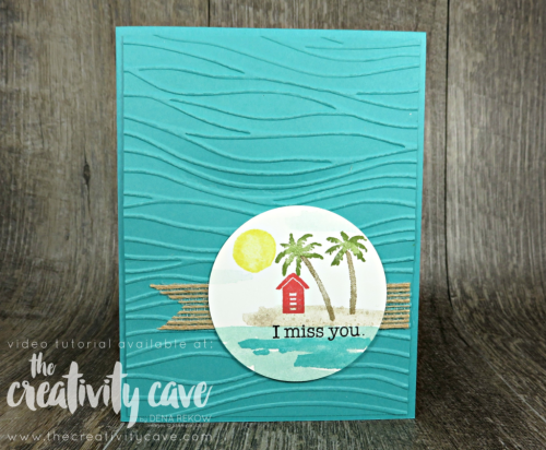 Check out my FB Live with experiments using the Waterfront Stamp Set  from Stampin Up on my blog at www.thecreativitycave.com #stampinup #thecreativitycave #bigshot #waterfrontstampset #handmadegreetingcards