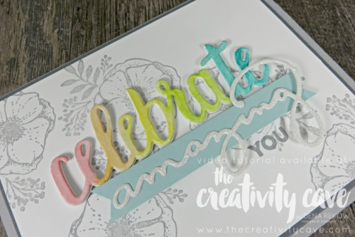 Check out the gorgeous card and video tutorial on my blog for this fantastic set from Stampin UP at www.thecreativitycave.com #stampinup #watercolor #thecreativitycave #whatwillyoustamp @amazingyou #crafting #handmadegreetingcards #videotutorial #bigshot #watercolor