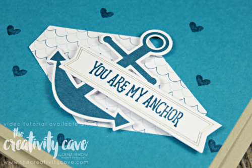 Check out the video tutorial for this and another project using April's You are my Anchor Paper Pumpkin Kit on my blog at www.thecreativitycave.com #stampinup #thecreativiycave #cardmaking #create #papercrafts #paperpumpkin