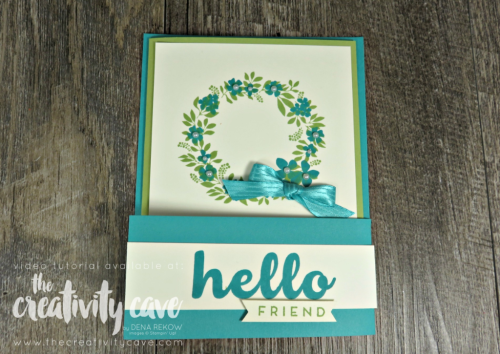 Check out the fun fold with video tutorial on my blog at www.thecreativitycave.com #stampinup #thecreativitycave #funfold #hellofriend #easy  #cardmaking #create #handmade