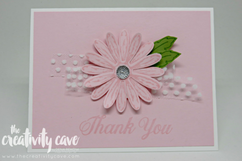 Adorable card using Stampin Up's Daisy Delight Bundle on my blog at www.thecreativitycave.com #stampinup #thecreativitycave #daisydelight #cardmaking #paper #create