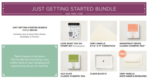 Just Getting Started Bundle available at www.thecreativitycave.com