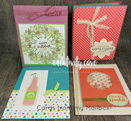 FB Live May 14 2018 Cards from my mailbox!  www.thecreativitycave.com #stampinup #thecreativitycave #handmade #alloccasionscards