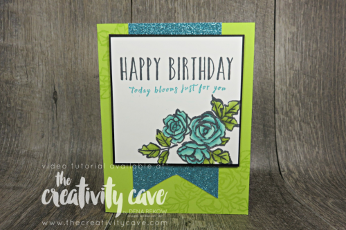 Check out the FB Live where I make this beautiful card using Stampin Up's Petal Palette and Perennial Birthday Stamp Sets! #stampinup #thecreativitycave #stampinblends #petalpalette #perennialbirthday