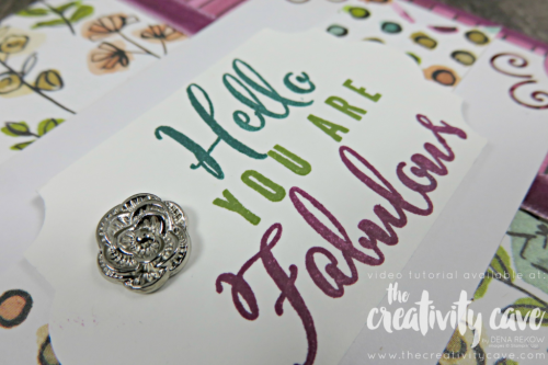 Check out my video tutorial for this beautiful card and the super easy way to create your own custom sentiment with the Make A Difference Alphabet Stamp Set on my Blog at www.thecreativitycave.com Don't forget when you order the Gotta Have it All Bundle through my website, you'll receive a free 30 project tutorial and  FREE online class with 8 cards plus a boxed set of 6 cards (and a video for each)!  Offer good through May 31, 2018