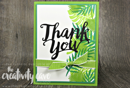 Check out three awesome cards featuring Stampin Up's Thank You Thinlits and a similar layout.  Video Tutorial on my blog at www.thecreativitycave.com #stampinup #cardmaking #papercrafting #bigshot #create #tropicalchic