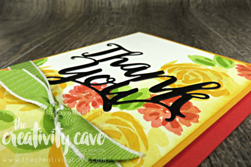 Check out three awesome cards featuring Stampin Up's Thank You Thinlits and a similar layout.  Video Tutorial on my blog at www.thecreativitycave.com #stampinup #cardmaking #papercrafting #bigshot #create #abstractimpressions