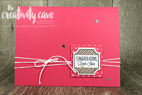 Check out this and another card featuring Stampin Up's Darling Punch Box on my blog at www.thecreativitycave.com #stampinup #darlingpunchbox #stampinblends #cardmaking #papercrafting #create
