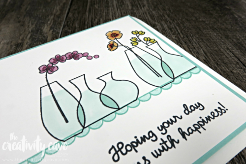 Check out this and 3 more fun cards on my blog complete with video tutorial at www.thecreativitycave.com Featuring Stampin Up's Varied Vases Stamp set #stampinup #thecreativitycave #papercrafts #diy #ccardmaking #easy #stampinblends #variedvases
