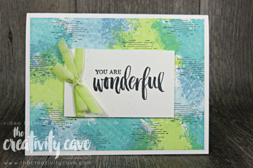 Check out this and 3 more fun cards on my blog complete with video tutorial at www.thecreativitycave.com Featuring Stampin Up's Artisan Textures and Rooted in Nature Stamp set #stampinup #thecreativitycave #papercrafts #diy #ccardmaking #easy #artisantextures #rootedinnature