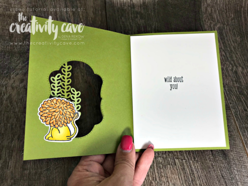 Check out this ADORABLE card with Video Tutorial featuring Stampin Up's A Little Wild and Blended Seasons Bundle on my blog: www.thecreativitycave.com #stampinup #thecreativitycave #baby #Alittlewild #bigshot #blendedseasons #handmadegreetingcards