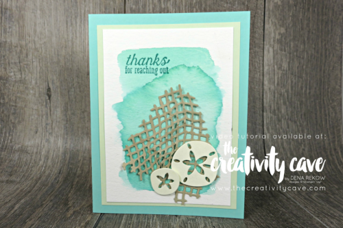 Check out my online class featuring the Sea of Textures bundle from Stampin UP on my blog, www.thecreativitycave.com #stampinup #thecreativitycave #onlineclass #seaoftextures