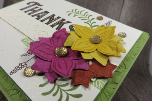 Check out the video for two BEAUTIFUL Fall Floral Cards on my blog featuring Pop Of Petals, Abstract Impressions, Country Home and Warm Hearted Stamp Sets at www.thecreativitycave.com #stampinup #thecreativitycave #gratitude #handmade #bigshot #tintileembossingfolder #Popofpetals