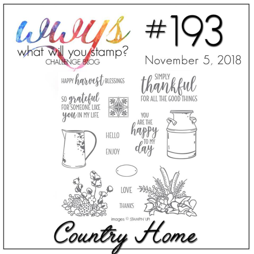 Check out the video tutorial for this simple card featuring Stampin Up's Country Home Stamp Set on my blog at www.thecreativitycave.com #stampinup #thecreativitycave #countryhome #stampinblends #alcoholmarkers #cardmaking