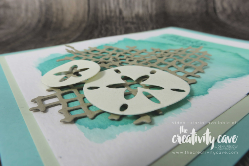 Check out this card plus 3 more from my FB Live on my blog at www.thecreativitycave.com featuring Stampin up's Sea of Textures Stamp Set  #stampinup #thecreativitycave #seaoftextures #onlineclass #watercolor