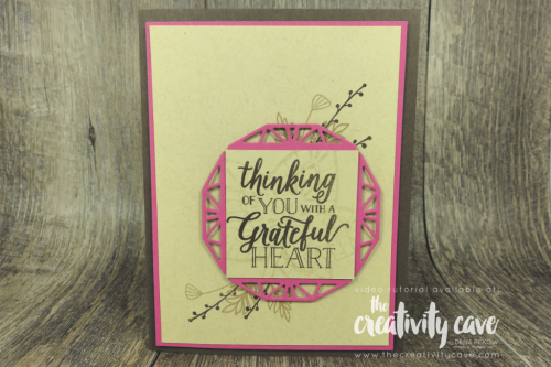 Check out this and 2 more beautiful cards created using Stampin UP's First Frost, Winter Woods and Falling for Leaves Stamp Sets on my blog at www.thecreativitycave.com #stampinup #videotutorial #thecreativitycave #firstfrost #frostedflorals