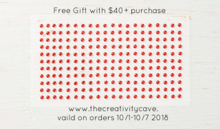 Free Red Rinestones with a $40+ order from my online store at www.thecreativitycave.com #stampinup #thecreativitycave #freegift #redrhinestones #cardmaking #papercrafts #diy #handmade #viprewards