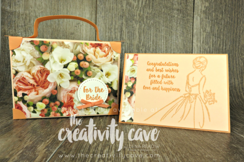 Thinking outside the box Suitcases:  Check out my video tutorial for a beautiful bridal suitcase box perfect for a shower gift card or small gift on my blog at www.thecreativitycave.com #stampinup #thecreativitycave #suitcases #thinkingoutsideoftheboxbloghop #wedding #giftcardholder #bride #bridal #petalpromenadedsp