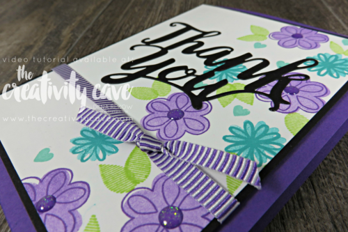 Check out three awesome cards featuring Stampin Up's Thank You Thinlits and a similar layout.  Video Tutorial on my blog at www.thecreativitycave.com #stampinup #cardmaking #papercrafting #bigshot #create #abigthankyou
