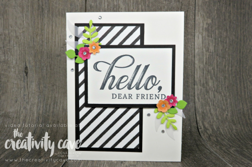 Check out my post featuring this card layout and tips for making cards quicker on my blog: www.thecreativitycave.com #stampinup #onlinecardclass #thecreativitycave #cardmaking #papercrafts #diy #botanicalbutterfliesdsp #bloombybloom #lifeisgrandstampset