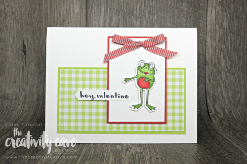 Check out my post featuring this card layout and tips for making cards quicker on my blog: www.thecreativitycave.com #stampinup #onlinecardclass #thecreativitycave #cardmaking #papercrafts #diy #ginghamgaladsp #sohoppytogether #heylove
