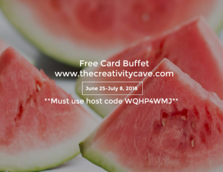 Free Card Buffet June When you spend at least $75 in my online store!  www.thecreativitycave.com