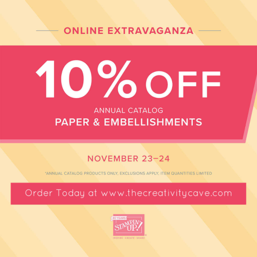 Shop the Online Extravaganza and receive a HUGE tutorial bundle PDF from The Creativity Cave when you spend at least $35 from Nov 23-28th! www.thecreativitycave.com