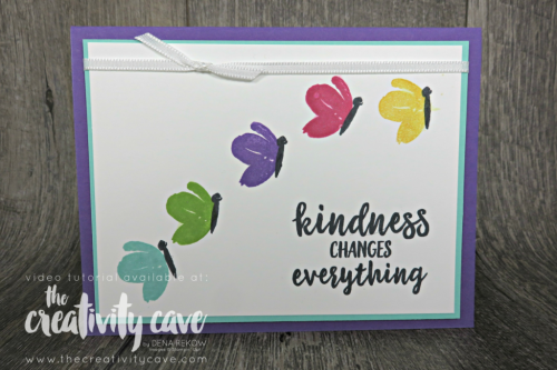 Check out the video tutorial for this and 5 other cards (!) on my blog at www.thecreativitycave.com #stampinup #caradmaking #paper #handmade #stampinup #thecreativitycave #abstractimpressions