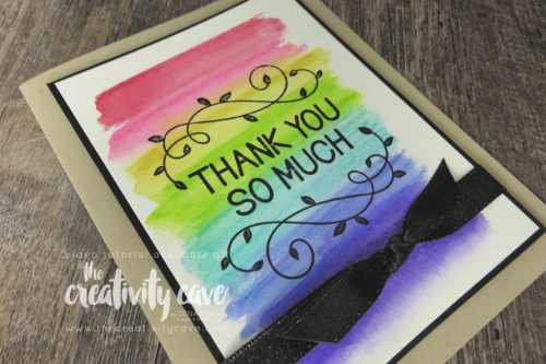 Check out this card and 2 others from my FB Live video on my blog at www.thecreativitycave.com featuring Stampin Up's Watercolor Pencils Assortment 2 and the One For All Stamp set! #stampinup #thecreativitycave #fblive #watercolor #oneforallstampset #handmadegreetingcards
