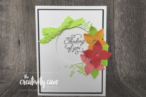 Check out this and 2 other cards from my FB Live video on my blog at www.thecreativitycave.com featuring Stampin Up's Pop of Petals Stamp Set and coordinating punch #stampinup #thecreativitycave #rubberstamping #popofpetals #paper #punches