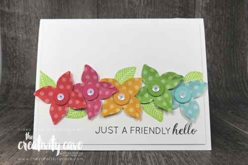 Check out the awesome card created with Stampin Up's Another Wonderful Year Stamp Set and Pop of Petals Bundle from Stampin UP on my blog at www.thecreativitycave.com #stampinup #thecreativitycave #paperpunches #popofpetals #anotherwonderfulyear