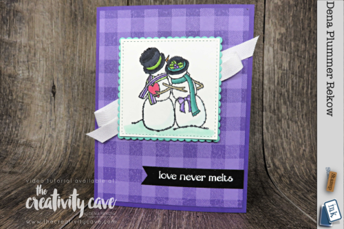 Check out my video tutorial for this fun card featuring Stampin Up's Buffalo Check and Spirited Snowman on my blog at www.thecreativitycave.com #stampinup #thecreativitycave #spiritedsnowman #Buffalocheckbackgroundstamp #cardmaking #alcoholmarkers #stampinblends
