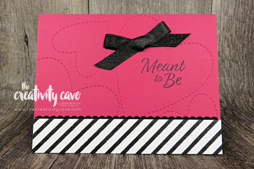 Check out the technique-filled video tutorial on my blog for this beautiful card featuring Stampin Up's Meant To Be Stamp Set and Coordinating Be Min Framelits on my blog at www.thecreativitycave.com #stampinup #thecreativitycave #meanttobe #bigshot #embossingmats #handmadegreetingcards #watercolor #valentine #anniversary