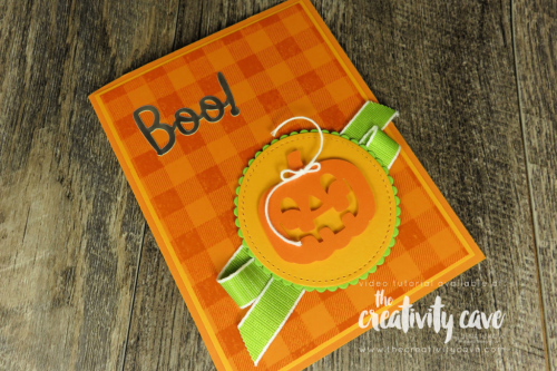 Check out the video tutorial showing how to make these adorable cards using Stampin Up'S Frights and Delights Paper Pumpkin kit plus a cool method of embossing on my blog at www.thecreativitycave.com #stampinup #thecreativitycave #paperpumpkin #halloween #halloweentreats