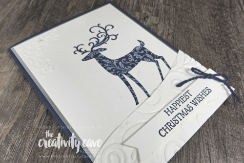 Great Video tutorial featuring Stampin Up's Dashing Deer Stamp set with a coordinating card and treat  on my blog: www.thecreativitycave.com #stampinup #thecreativitycave #dashingdeer #christmas #easy